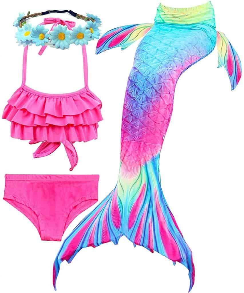 Camlinbo 3pcs Girls Mermaid Swimsuits