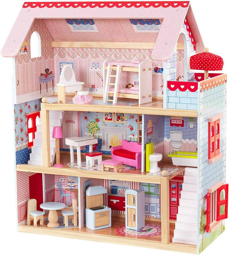Best budget dollhouse: KidKraft Chelsea Doll Cottage with Furniture