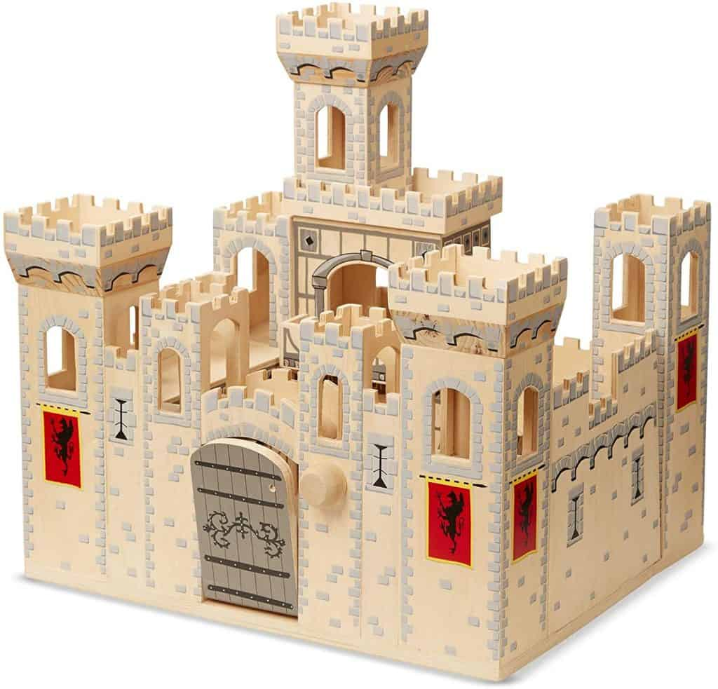 Melissa & Doug Deluxe Folding Medieval Wooden Castle