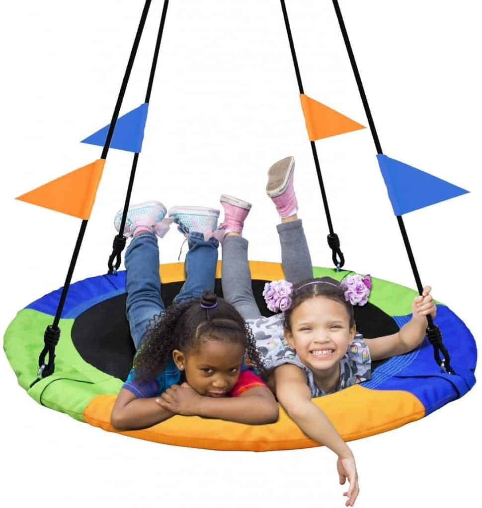Best Outdoor Toys for 10-Year-Olds: PACEARTH 40 Inch Saucer Tree Swing