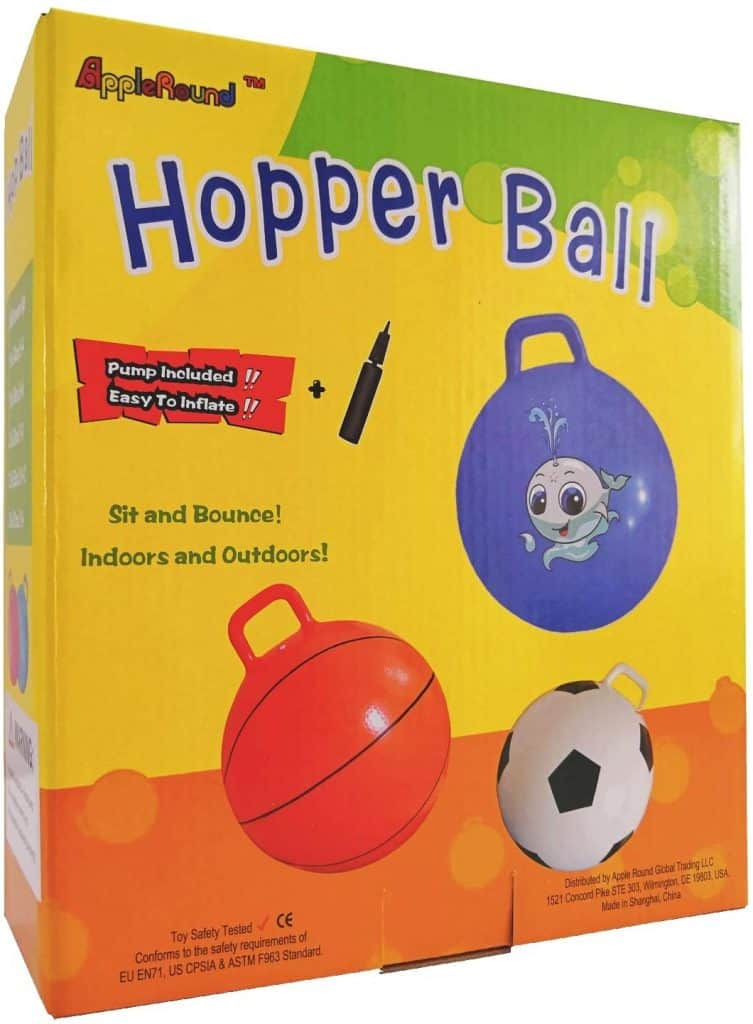 AppleRound Space Hopper Ball with Air Pump