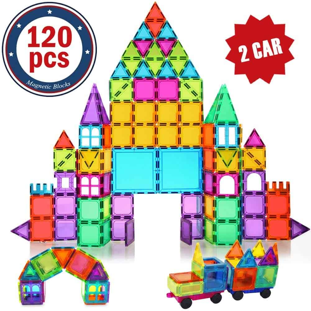 Best Toys for 4-Year-Olds: BMAG 120 PCS Magnetic Building Blocks