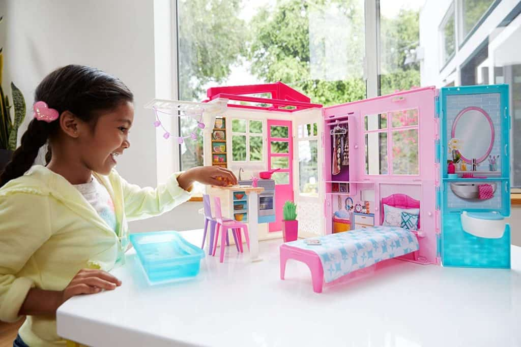 Barbie Dollhouse, Portable 1-Story Playset