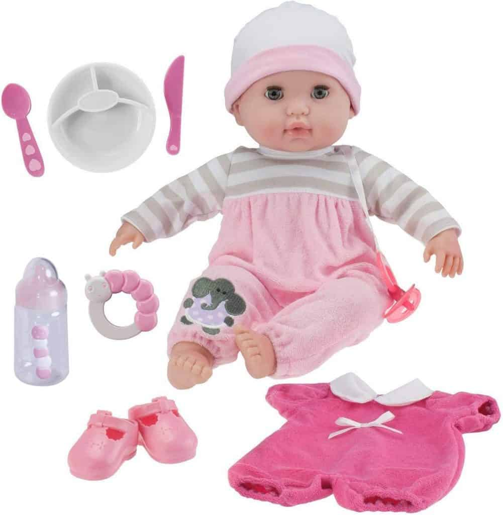 """Best Doll for 3-Year-Olds: Berenguer Boutique 15"""" Soft Body Baby Doll"""