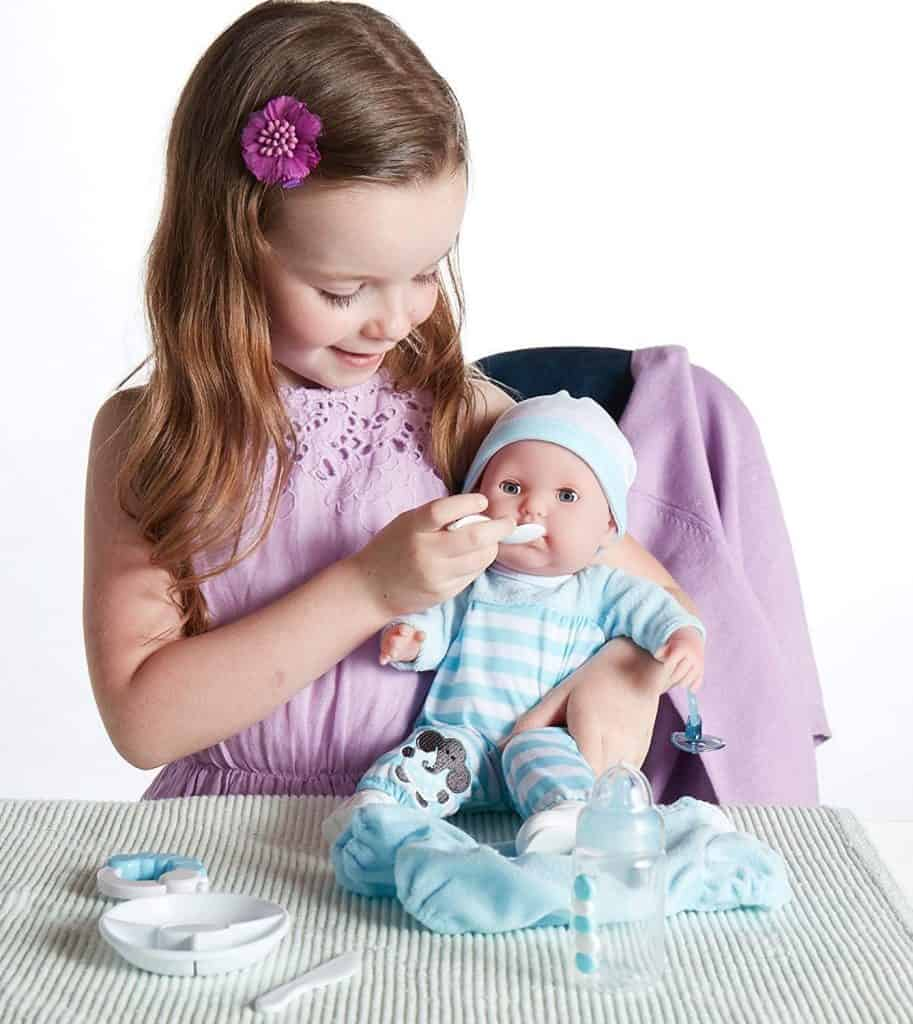 """Berenguer Boutique 15"""" Soft Body Baby Doll Blue"""