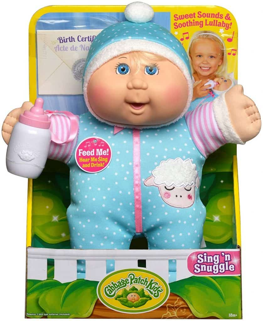 """Best Doll for 2-Year-Olds: Cabbage Patch Kids 11"""" Deluxe Sing N' Snuggle"""