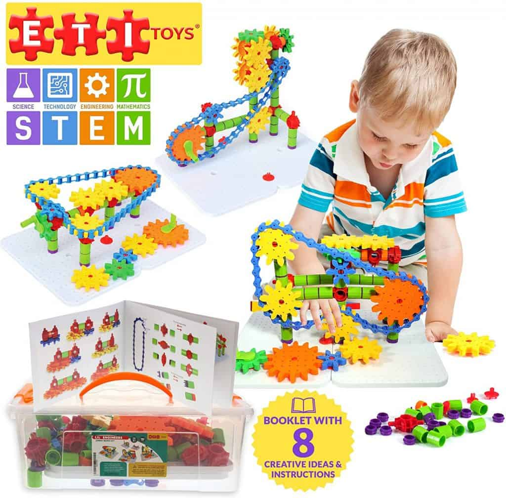 ETI Toys, STEM Learning, 192 Piece Jumbo Gears Set