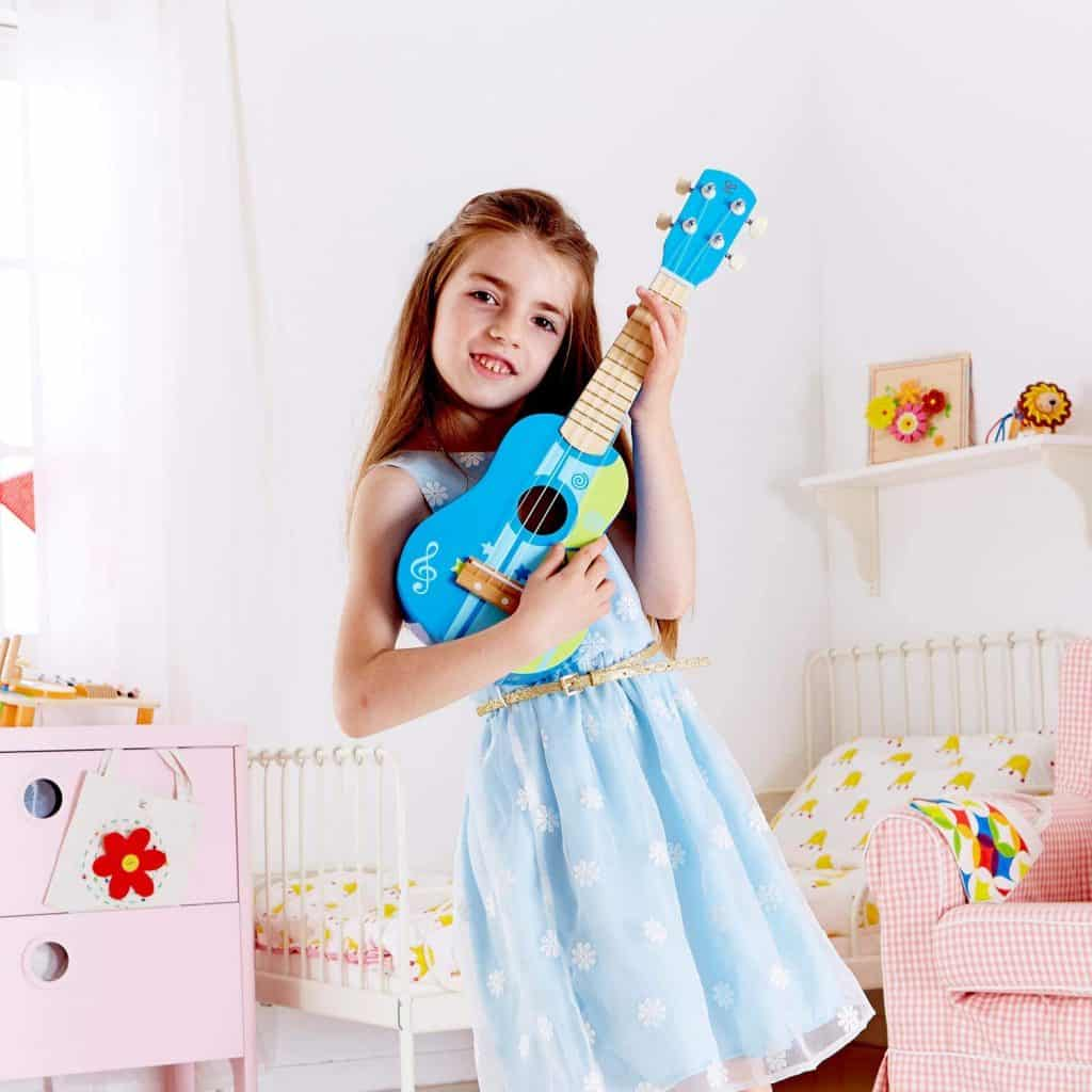 Hape Kid's Wooden Toy Ukulele