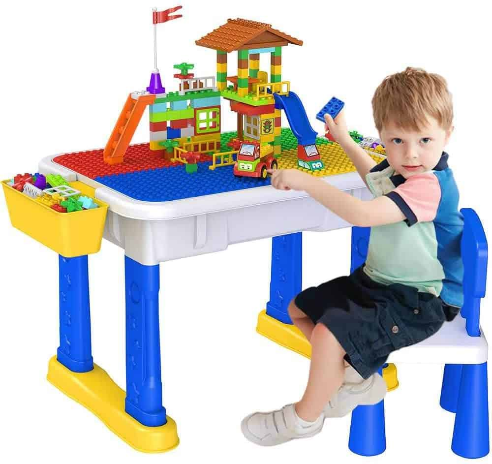 Kids 6-in-1 Multi Activity Table Set