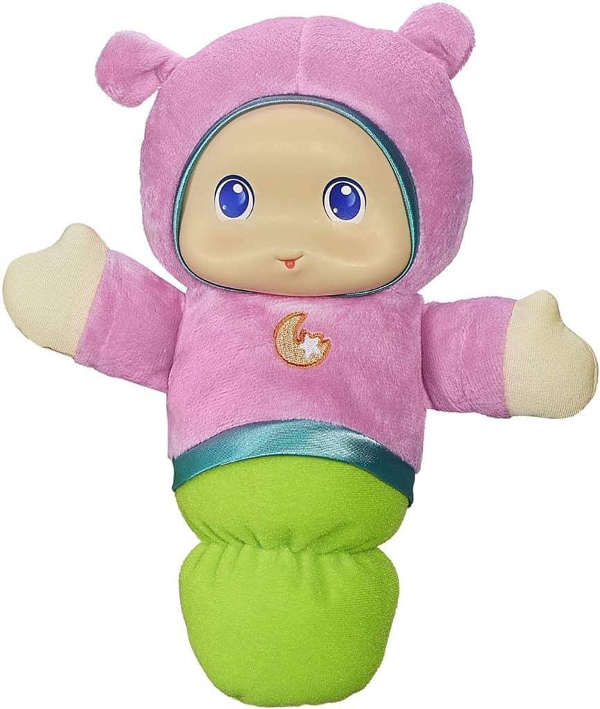 Playskool Pink Glo Worm Stuffed Lullaby Toy