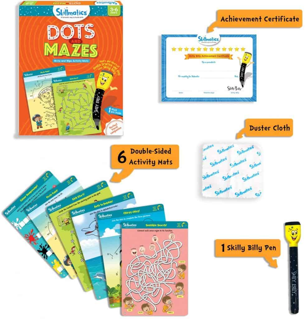 Skillmatics Educational Game - Dots and Mazes