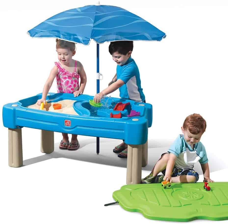 Best sand and water table: Step2 Cascading Cove Sand & Water Table with Umbrella