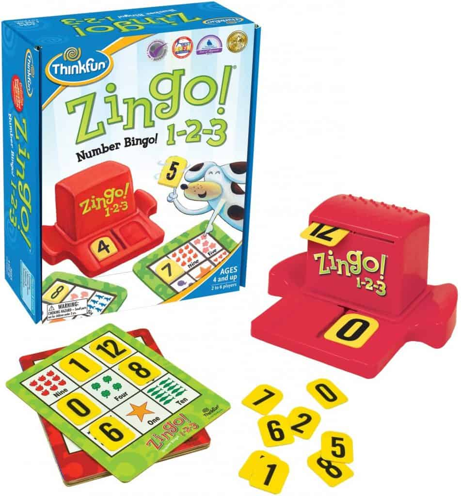 ThinkFun Zingo 1-2-3 Number Bingo Game