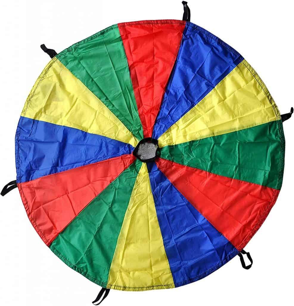 GSI Kids Play Parachute Rainbow Parachute Toy Tent Game