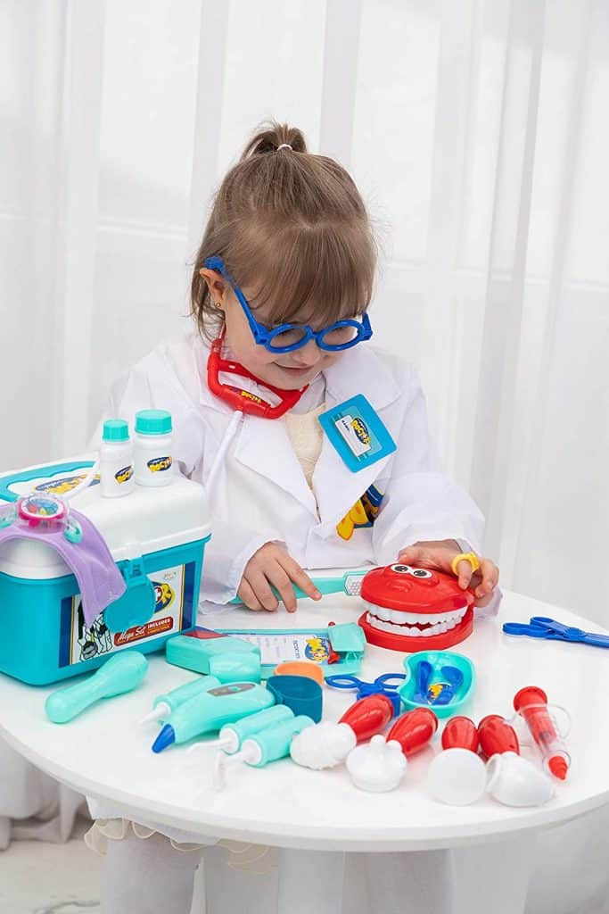 JOYIN Kids Doctor Kit 31 Pieces Pretend-n-Play