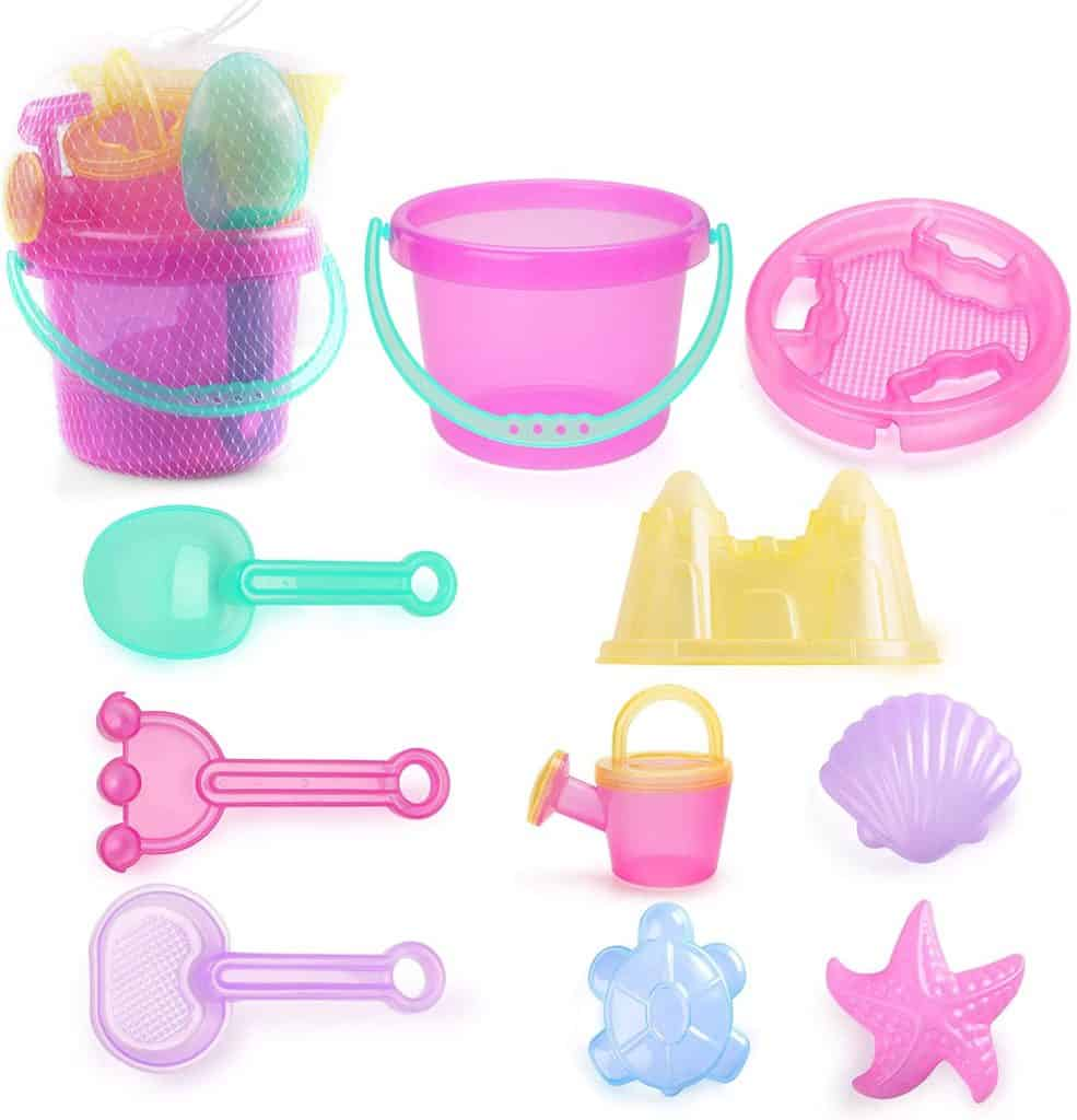LotFancy Kids Beach Sand Toys Set