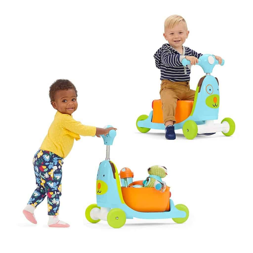 Skip Hop Kids 3-in-1 Baby Activity Walker & Ride On Scooter Wagon Toy