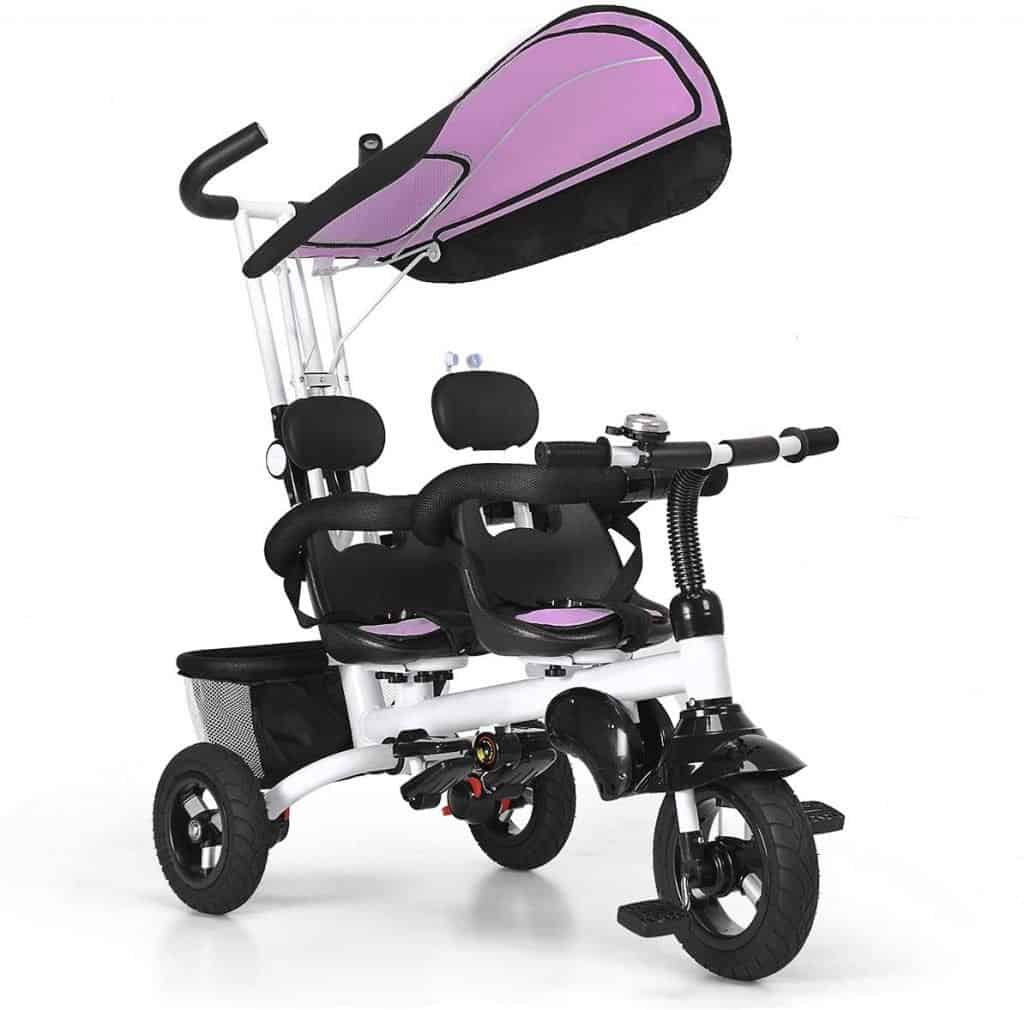 Baby Joy 4 in 1 Twins Kids Baby Tricycle