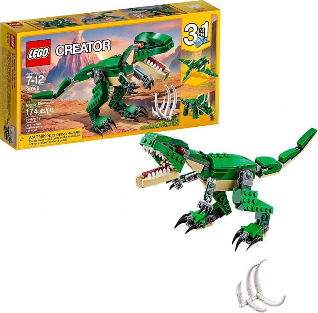 Best Budget LEGO Sets: LEGO Creator Mighty Dinosaurs 31058 Build It Yourself Dinosaur Set