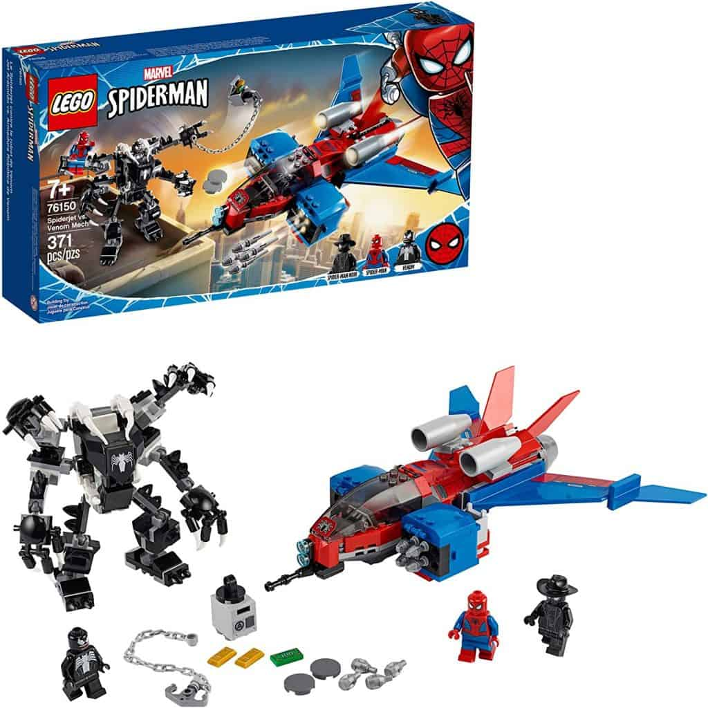 LEGO Marvel Spider-Man Spider-Jet vs Venom Mech 76150
