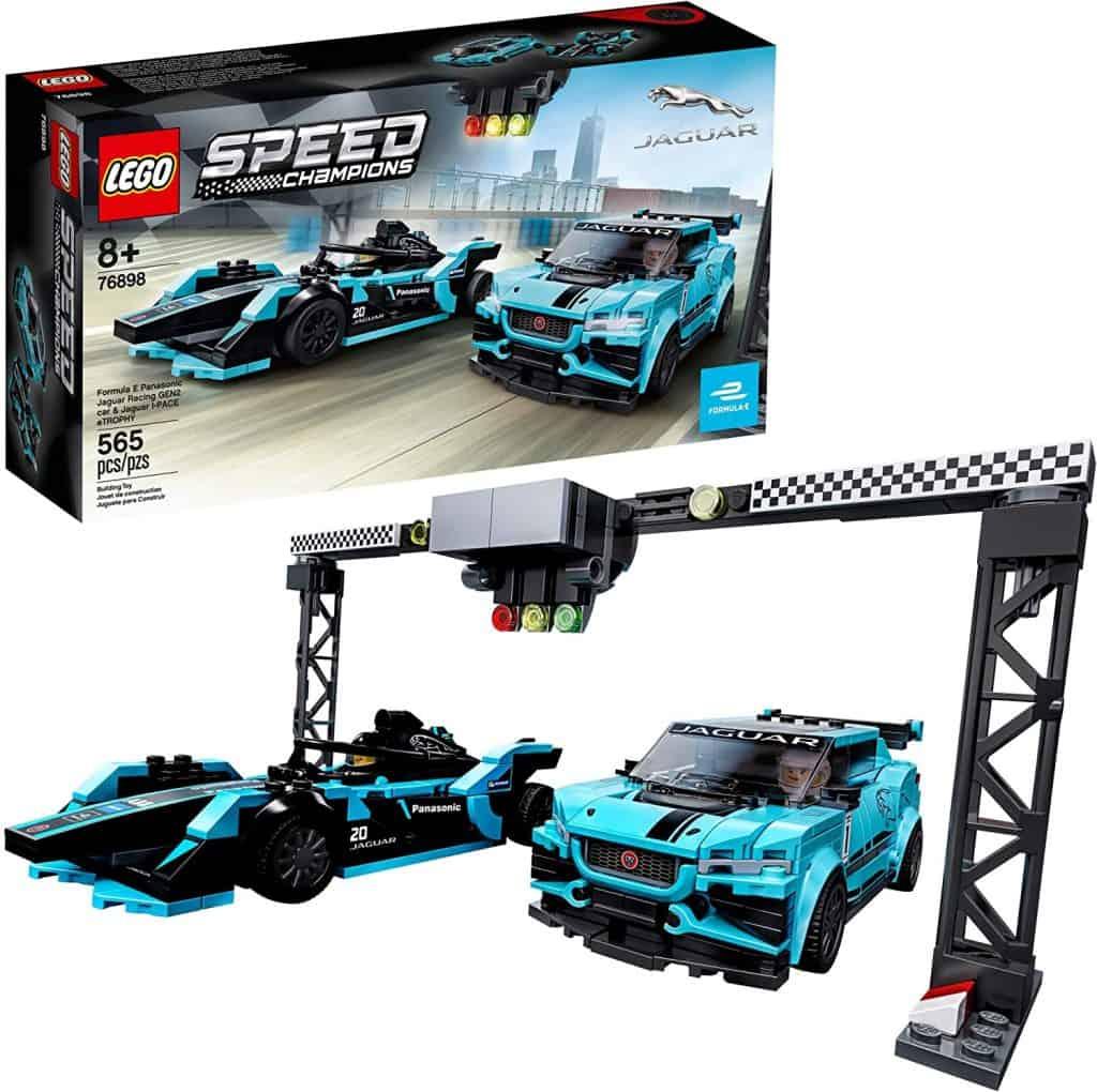 LEGO Speed Champions Formula E Panasonic Jaguar Racing Gen2 car and Jaguar I-PACE eTROPHY 76898 Building Kit
