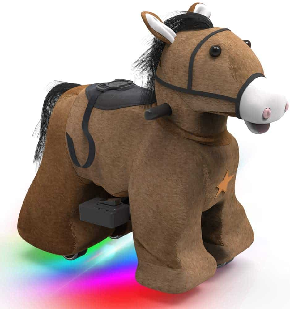 Best Horse Toys: Rechargeable 6V/7A Plush Animal Ride On Toy