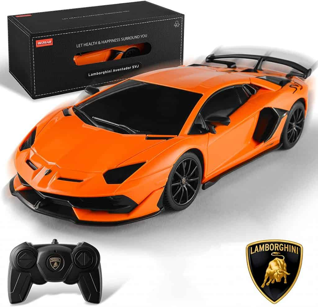 BEZGAR Officially Licensed RC Series 1-24 Scale Remote Control Car Lamborghini Aventador SVJ