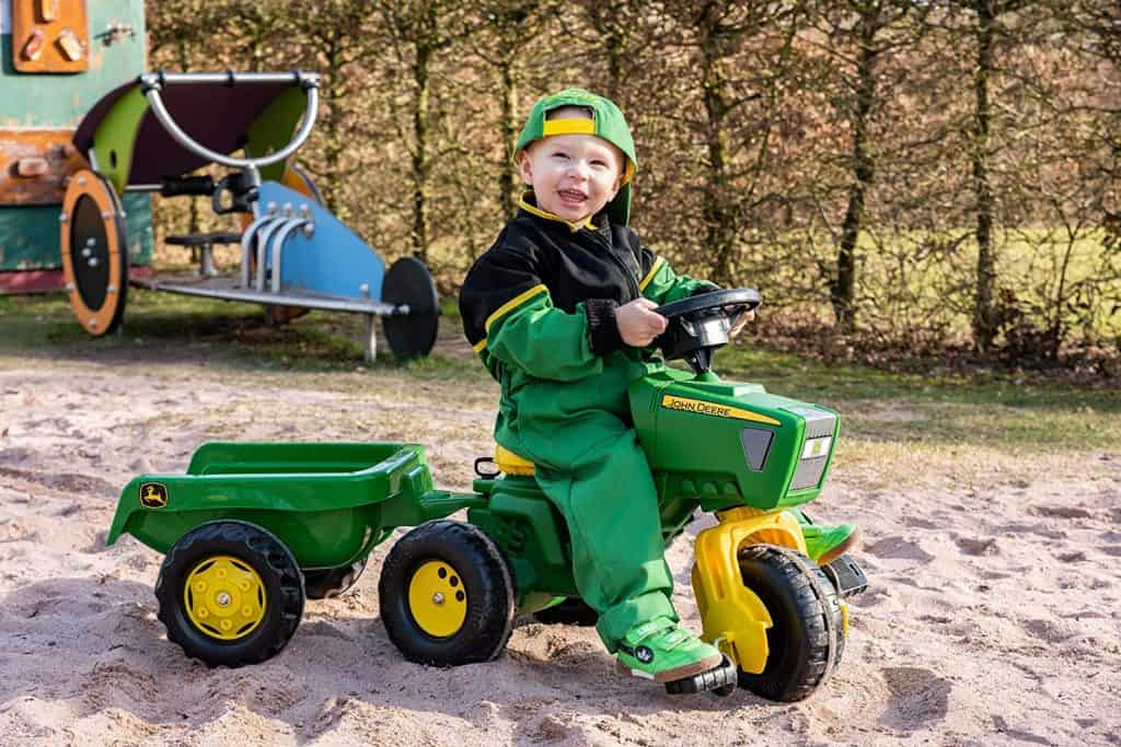 Rolly John Deere 3 Wheel Trac with Trailer Ride On