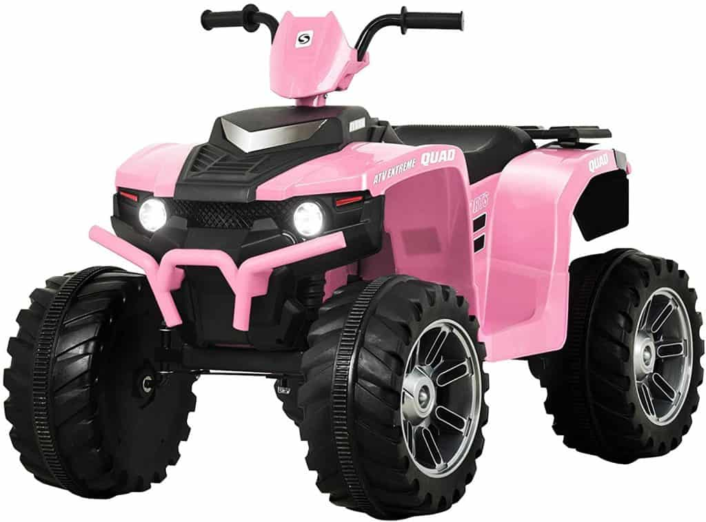 Uenjoy 12V Kids Electric 4-Wheeler ATV Quad Ride On Car Toy
