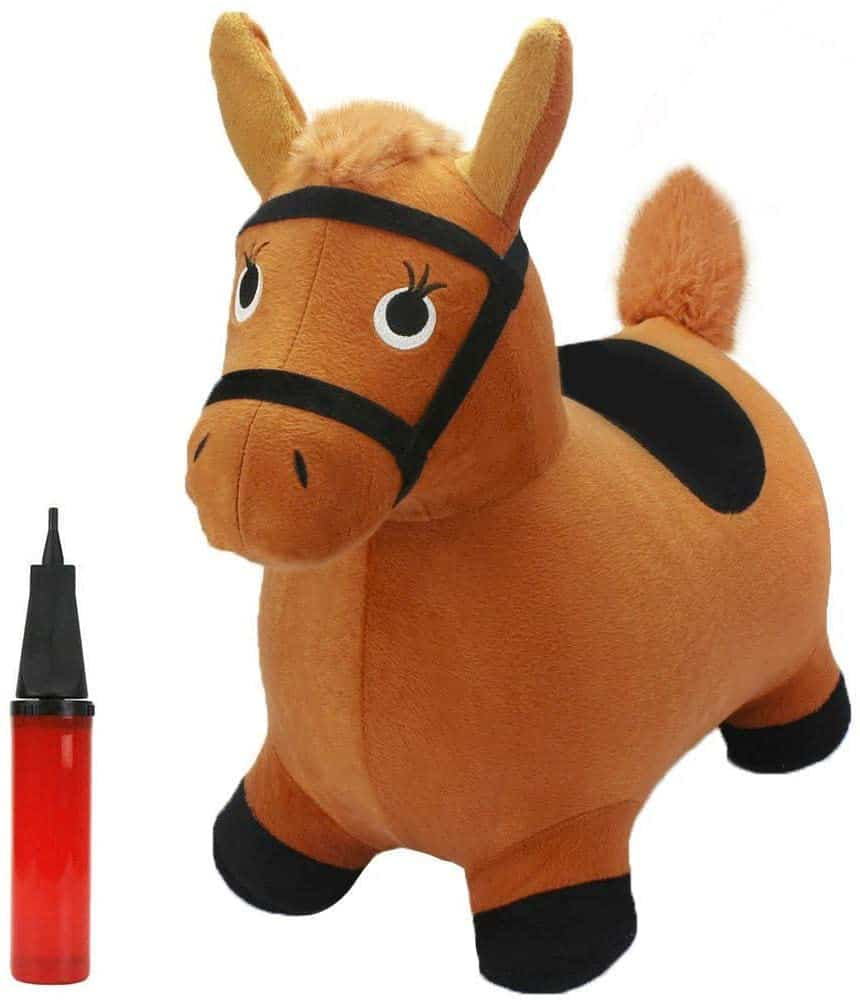 iPlay, iLearn Bouncy Pals Brown Bouncy Hopping Horse