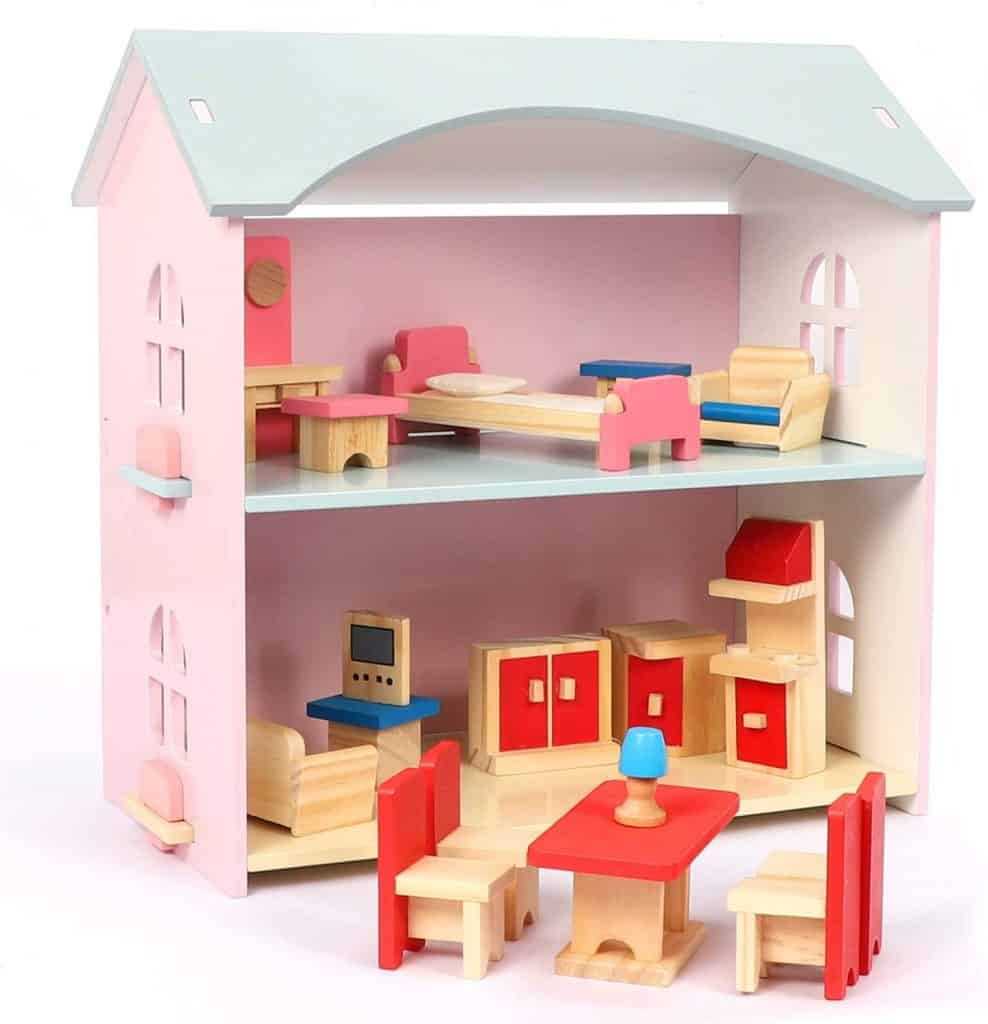 Best Dollhouses for Toddlers: NextX Kids Wooden Dollhouse