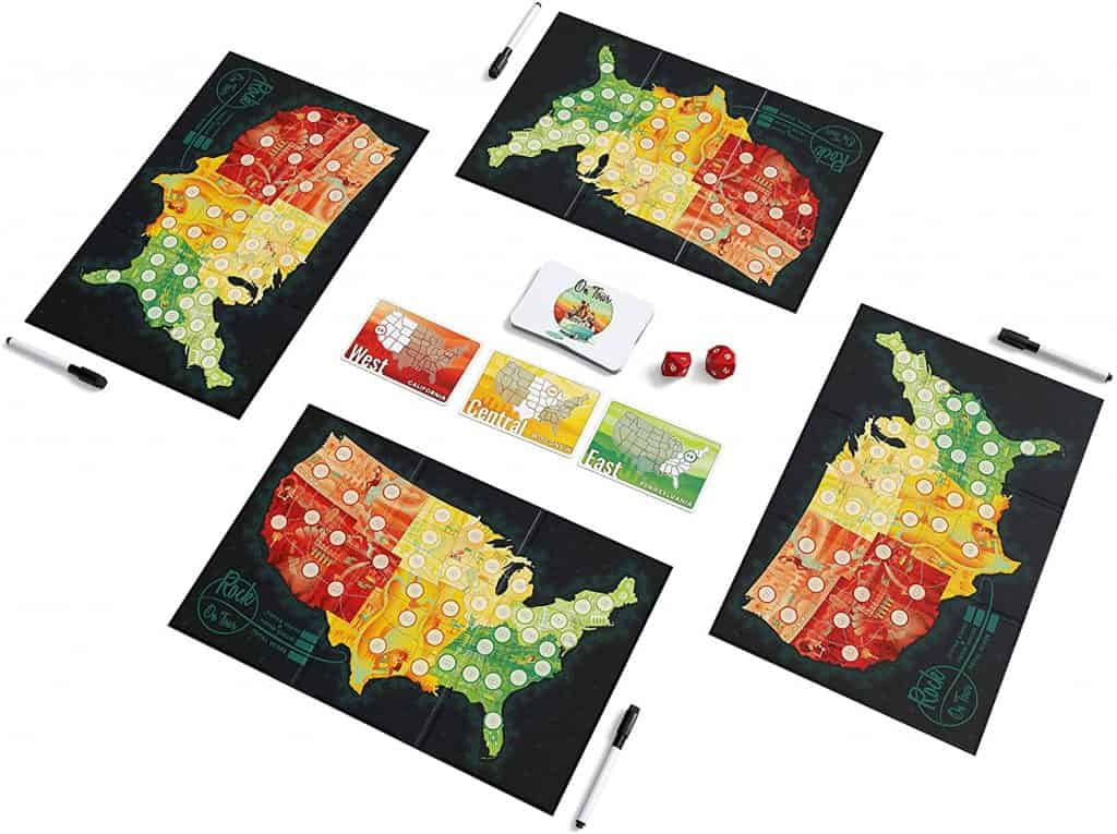 On Tour USA and Europe - Board Game