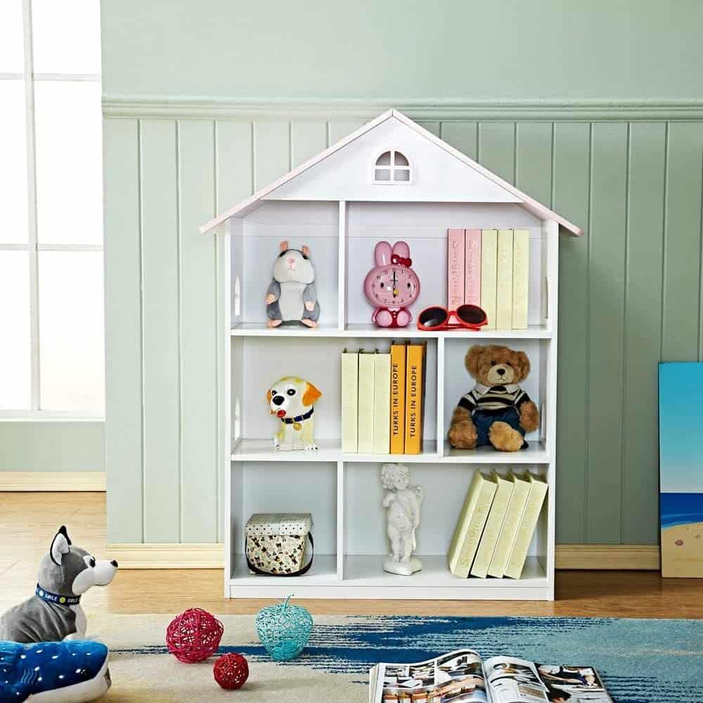 WODENY Kids Dollhouse Bookcase