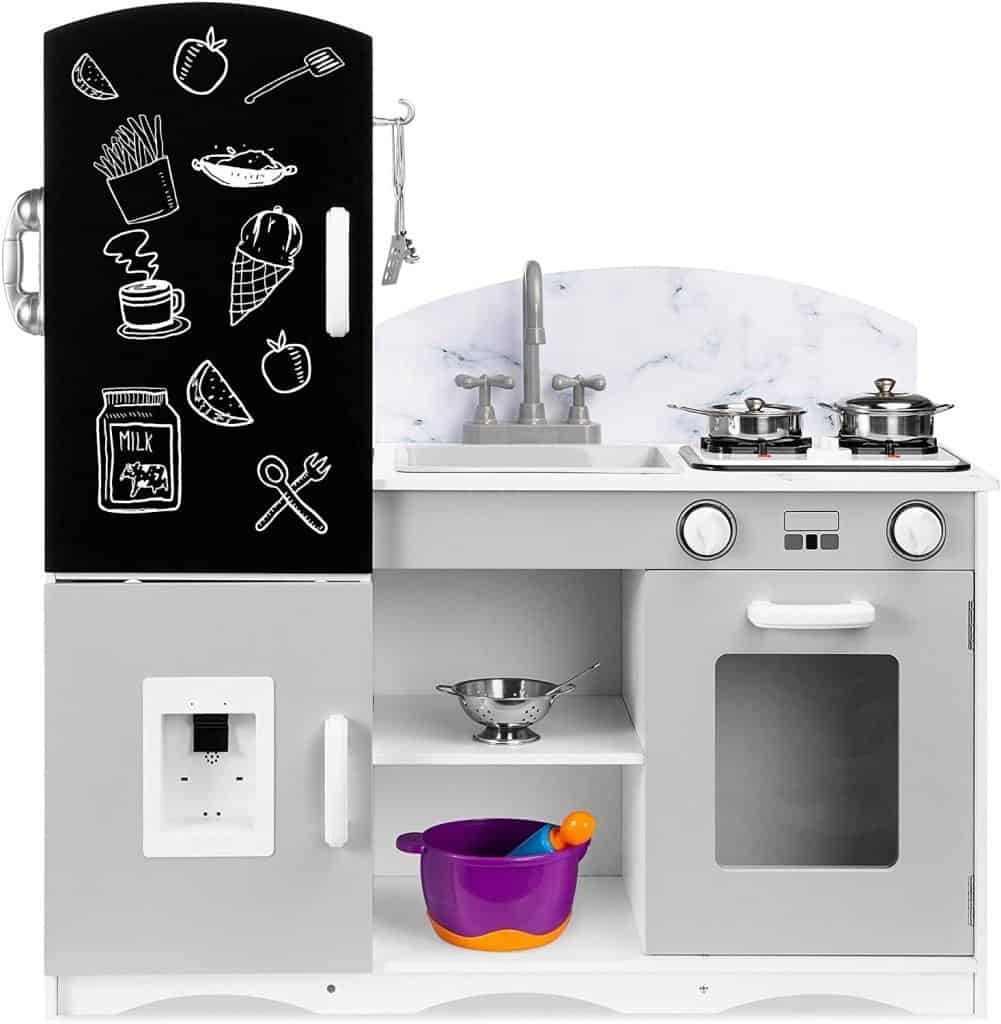 Best Choice Products Wooden Pretend Play Kitchen Toy Set