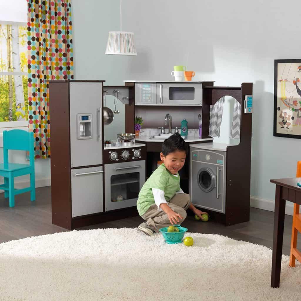 KidKraft Ultimate Corner Wooden Play Kitchen