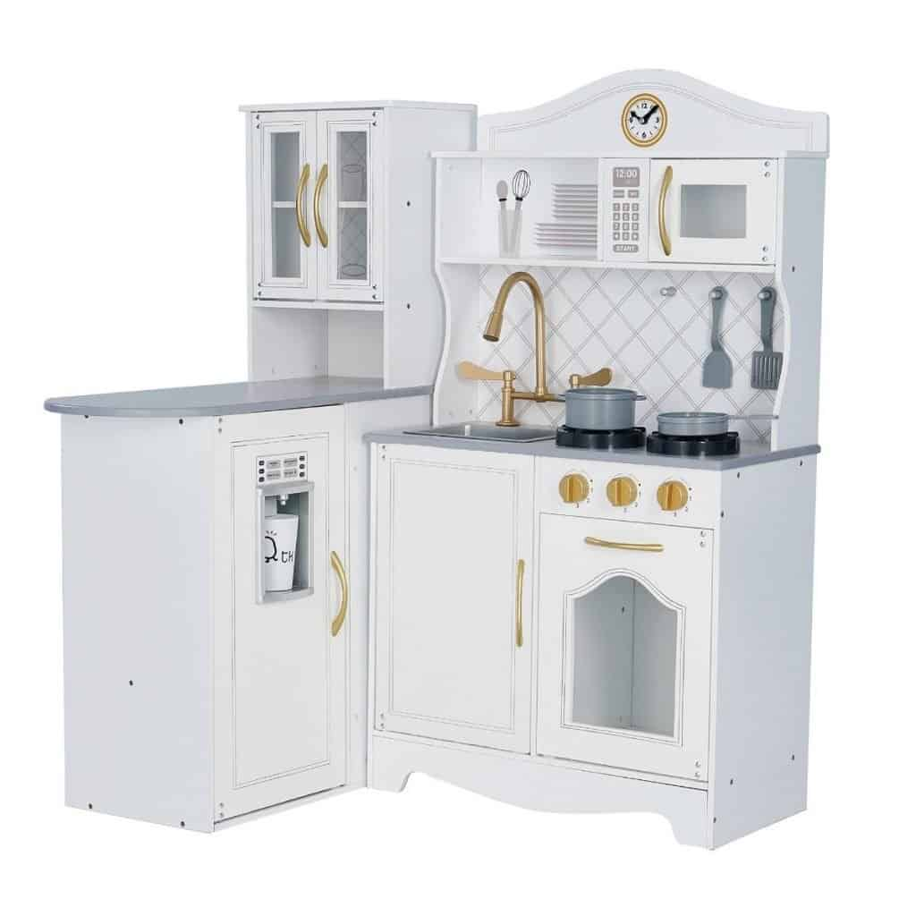 Best wooden play kitchens: Teamson Kids Little Chef Upper East Retro Play Kitchen