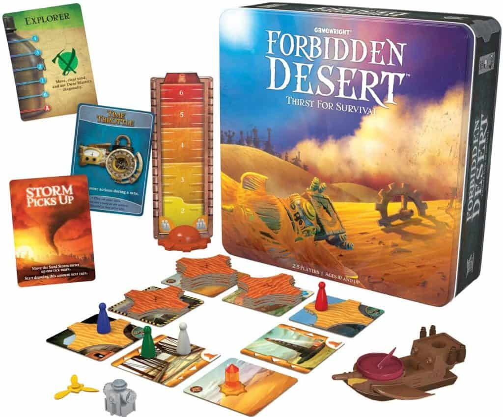 Gamewright Forbidden Desert – The Cooperative Strategy Survival Desert Board Game